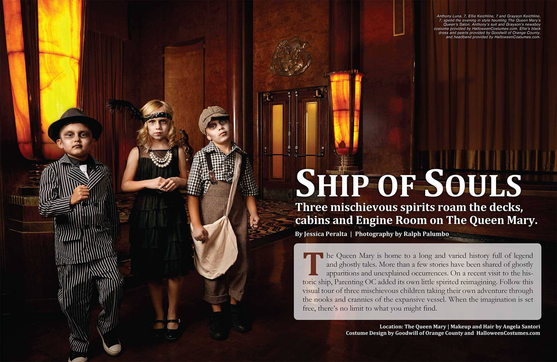 PARENTING OC | Halloween Issue - Photographed on The Queen Mary, Long Beach< CA